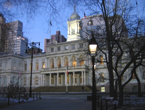 New York's City Hall.  Only SOB's need apply.